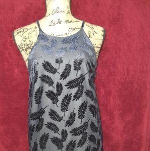 Honey Belle Demi Navy Burnout Velvet Shift Dress